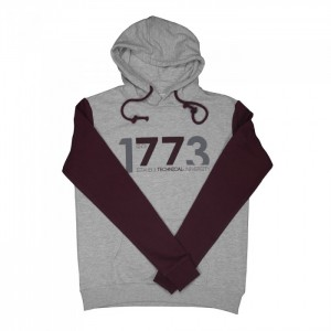 1773 Kapşonlu Sweat Gri Bordo